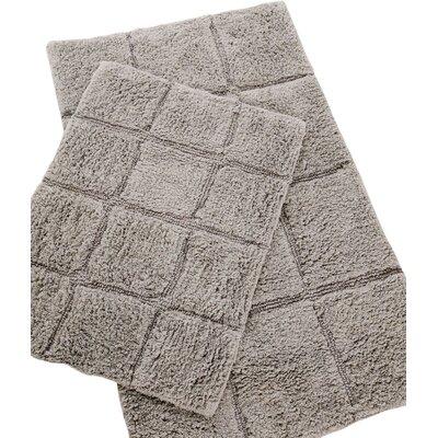 Pacific Block 2 Piece Bath Rug Set Color: Grey
