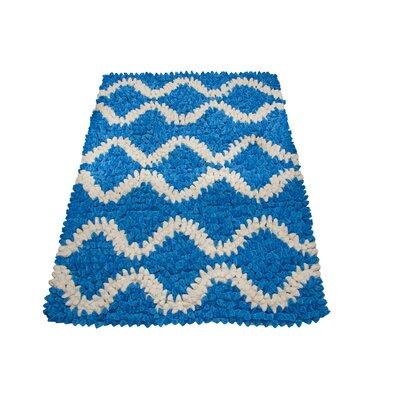 Chelsea Lifestyle Fantasy Hand-Woven Blue/White Area Rug