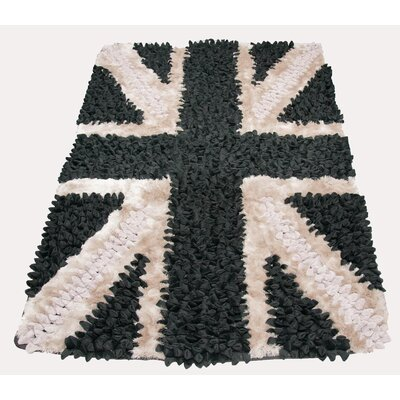 Chelsea Lifestyle The Brits Black Area Rug