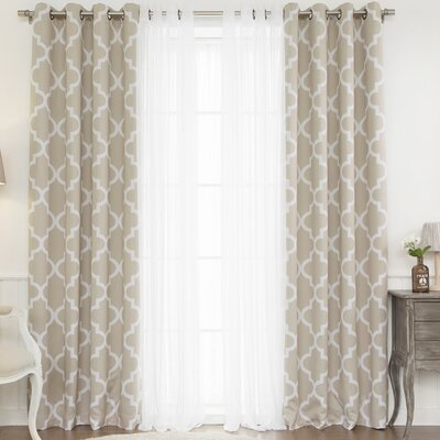 Mix amp match curtain panel by best home fashion inc