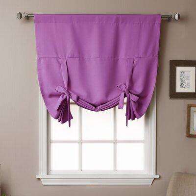 Blackout Tie-up Shade Color: Violet