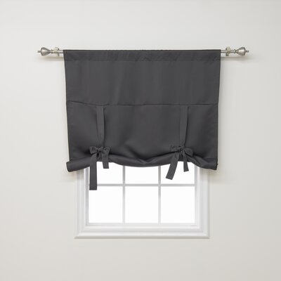 Blackout Tie-up Shade Color: Dark Grey
