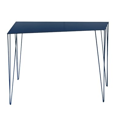 Chele Console Table Color: Steel Blue