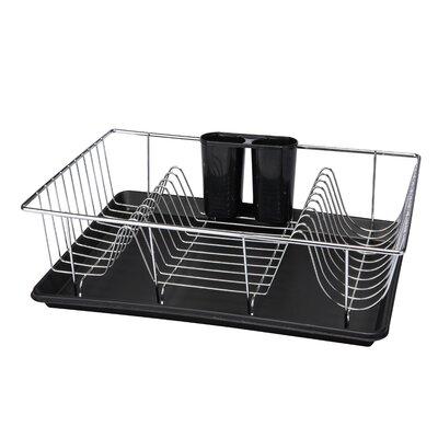 Kitchen Details 3 Piece Dish Rack Set Color: Black