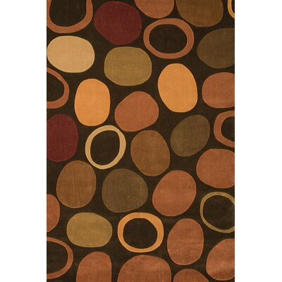 Foreign Accents Festival Brown Circle Area Rug