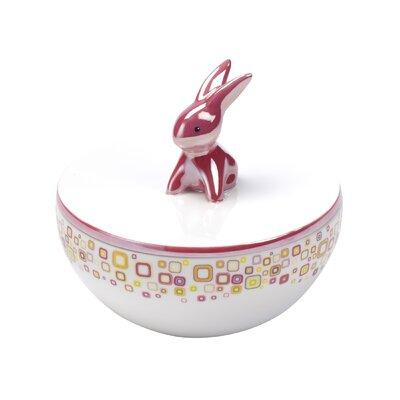 Goebel Dose Pink Retro Bunny