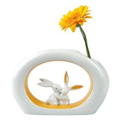 Goebel Vase Orange Sunrise Bunny