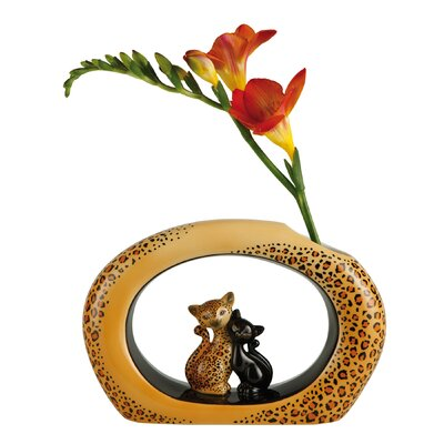 Goebel Vase Leopard Kitty