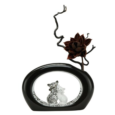 Goebel Vase Zebra Kitty in Schwarz