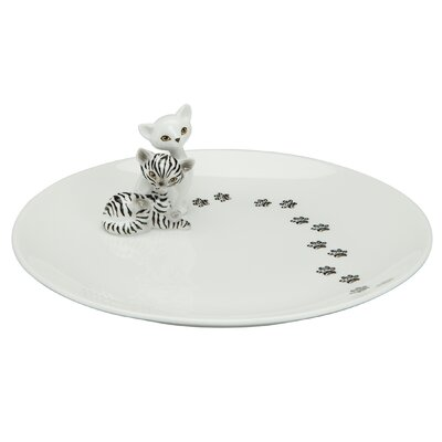 "Goebel 20cm Teller ""Zebra Kitty"" aus Porzellan"