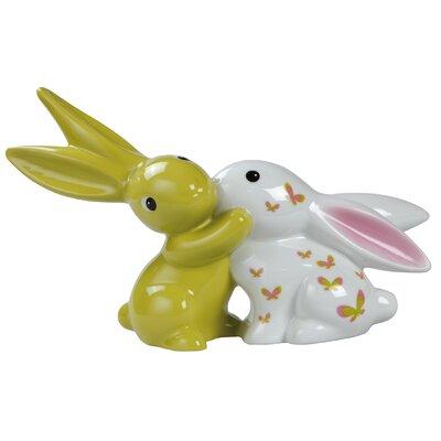 """Goebel 26cm Dekorationsfigur """"Pink Apple Bunny in Love"""""""