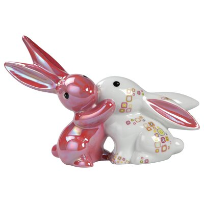 Goebel Dekorationsfigur Pink Retro - Bunny in Love