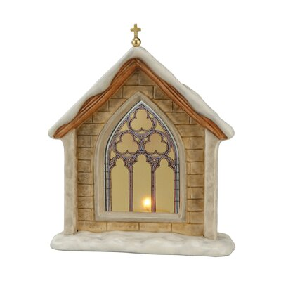 Goebel 17cm Dekorationsfigur Verschneite Kapelle