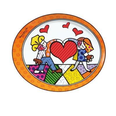 "Goebel 25cm x 21cm Teller ""Heart Kids"" aus Porzellan"
