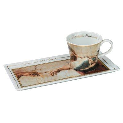 Goebel Kaffeetassen-Set Michelangelo - Die Erschaffung Adams