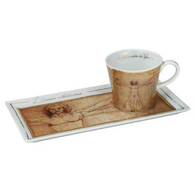 Goebel Kaffeetassen-Set Michelangelo - Der vitruvianische Mensch