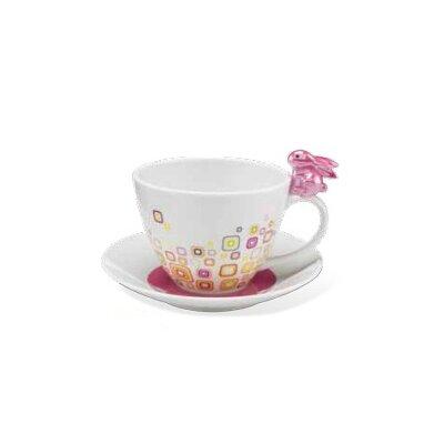 Goebel Tasse Pink Retro Bunny de luxe