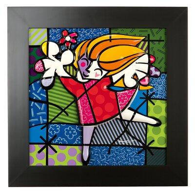 Goebel Gerahmtes Wandbild Ballet Dancer von Romero Britto - 50 x 50 cm