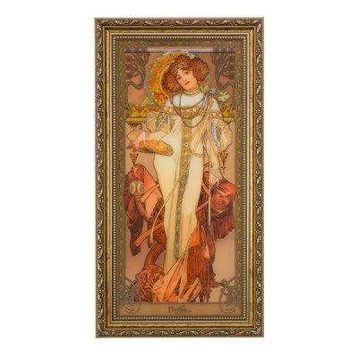Goebel Gerahmtes Wandbild Herbst Die Jahreszeiten 1900 von Alphonse Mucha - 48 x 25 cm
