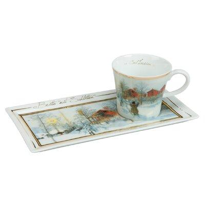 Goebel Kaffeetassen Set Britta mit Schlitten Kunst & Kaffee
