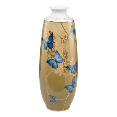 Goebel Vase Blue Butterflies Artis Orbis
