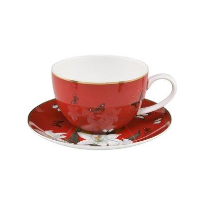 Goebel Teetasse Lilies Red Artis Orbis