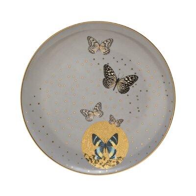 Goebel Frühstücksteller Grey Butterflies Artis Orbis