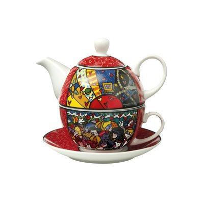 Goebel 3-tlg. Tee-Set Pop Art aus Porzellan