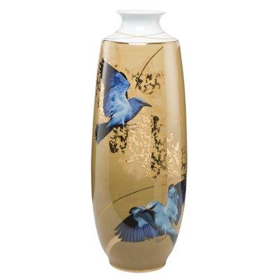 Goebel Vase Blue Birds Artis Orbis