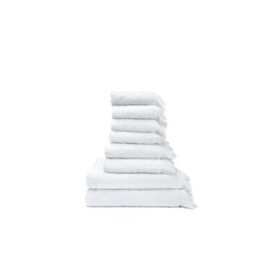 CASA DI BASSI Cotton 8 Piece Towel Set
