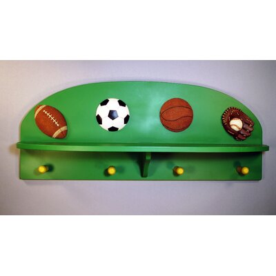 All Sports Wall Mounted Coat Rack