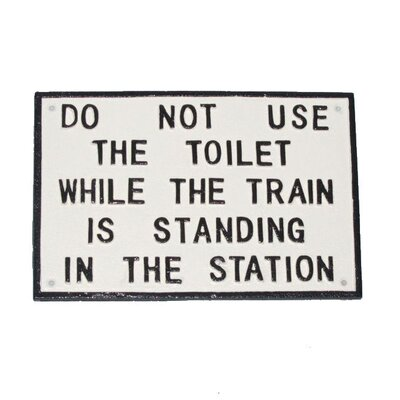 Ascalon Do Not Use The Toilet Typography Plaque