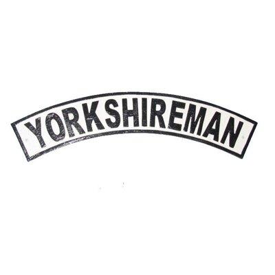 Ascalon Yorkshireman Typography Plaque