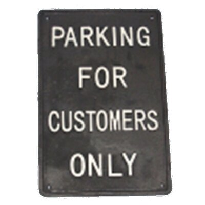Ascalon Parking Typography Plaque