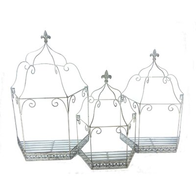 Ascalon 3 Piece Wall Cage Set in Grey Wash