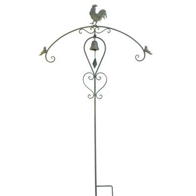 Ascalon Cockerel/Bell Ornamental Garden Stake