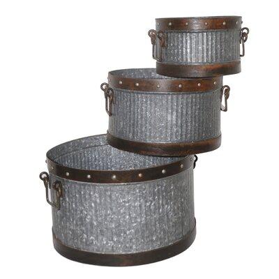 Ascalon 3 Piece Round Pot Planter Set