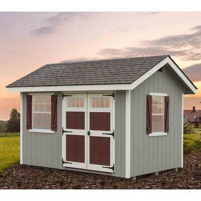 Heritage 8 ft. W x 12 ft. D Wooden Storage Shed