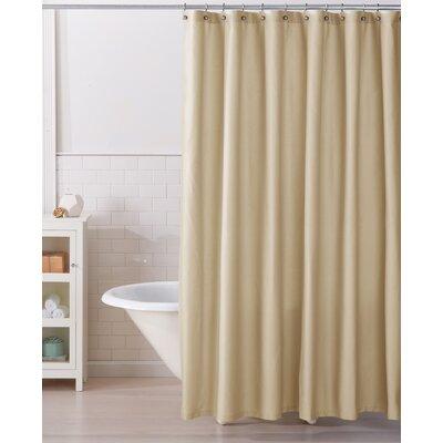 Monroe 100% Cotton Shower Curtain Color: Sandshell