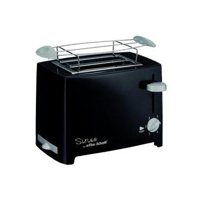 Efbe-Schott Kompakt-Toaster Designer 2 Scheiben mit Brötchenaufsatz