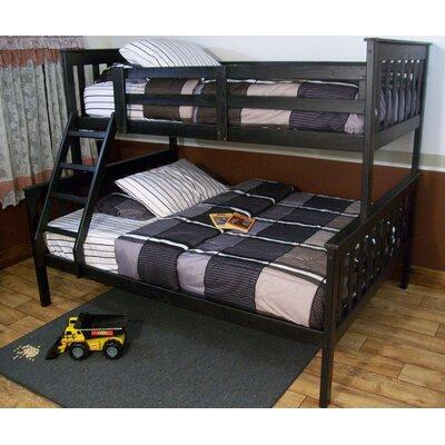 Mission Bunk Bed Bed Frame Color: Black, Size: Twin Over Full Mission Bunkbed