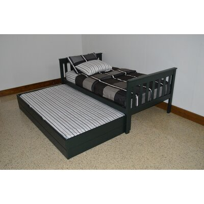 Trundle Unit Size: Full Trundle Bed, Color: Dark Green