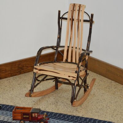 Hickory Child Rocking Chair Frame Color: Rustic Hickory