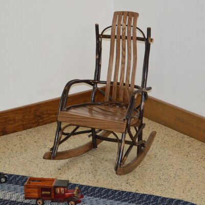 Hickory Child Rocking Chair Frame Color: Walnut