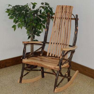 Hickory Rocking Chair Frame Color: Rustic Hickory
