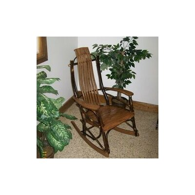 Hickory Rocking Chair Frame Color: Walnut