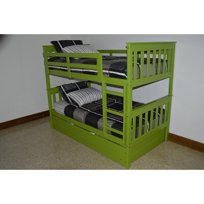 Mission Bunk Bed Bed Frame Color: Lime, Size: Twin Over Full Mission Bunkbed
