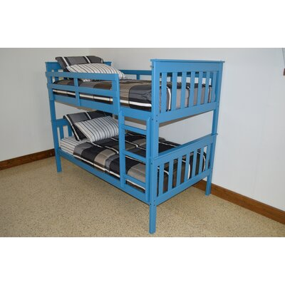 Mission Bunk Bed Bed Frame Color: Carribean Blue, Size: Twin Over Full Mission Bunkbed