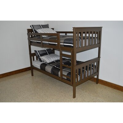 Mission Bunk Bed Bed Frame Color: Coffee, Size: Twin Over Full Mission Bunkbed