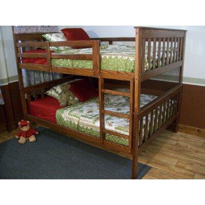 Mission Bunk Bed Bed Frame Color: Asbury, Size: Twin Over Full Mission Bunkbed